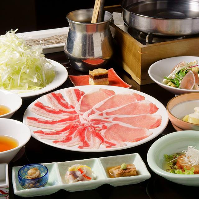 【平日お食事のみプラン】全7品3500円 ≪旬菜コース≫ 黒豚しゃぶしゃぶなど盛りだくさん