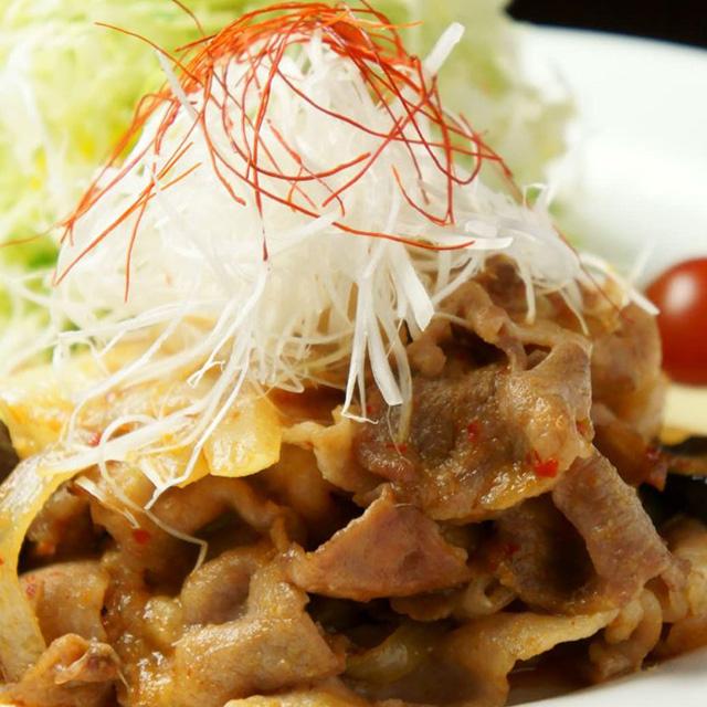 黒豚のピリ辛味噌炒め御膳+ビュッフェ